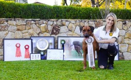 Ana Hickmann posa com seus cães para divulgar marca de alimentos