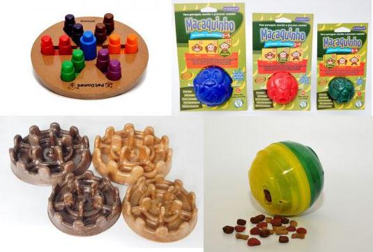Brinquedos funcionais garantem a distração e evitam o sedentarismo dos Pets
