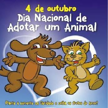 4 de outubro é o Dia Nacional de Adotar um Animal