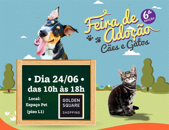 Golden Square Shopping realiza feira de adoção de animais