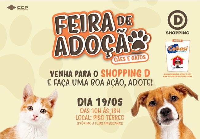 Shopping D promove feira de adoção de animais