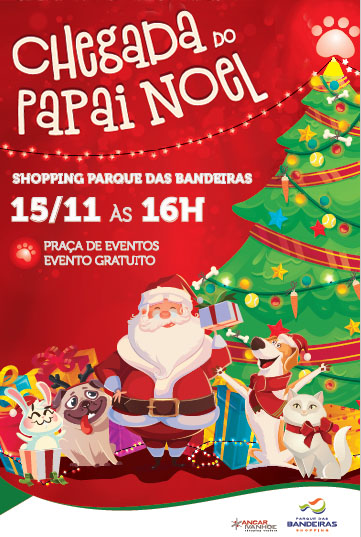 Universo pet inspira o Natal do Shopping Parque das Bandeiras
